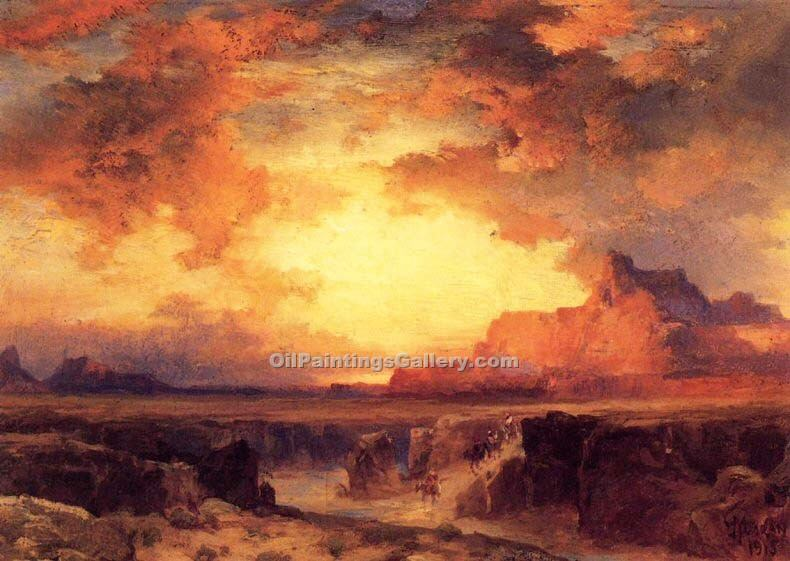 """Near Fort Wingate New Mexico"" by  Thomas Moran"