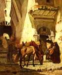 Near the Kasbah by  Frederick Arthur Bridgman (Painting ID: LA-0101-KA)