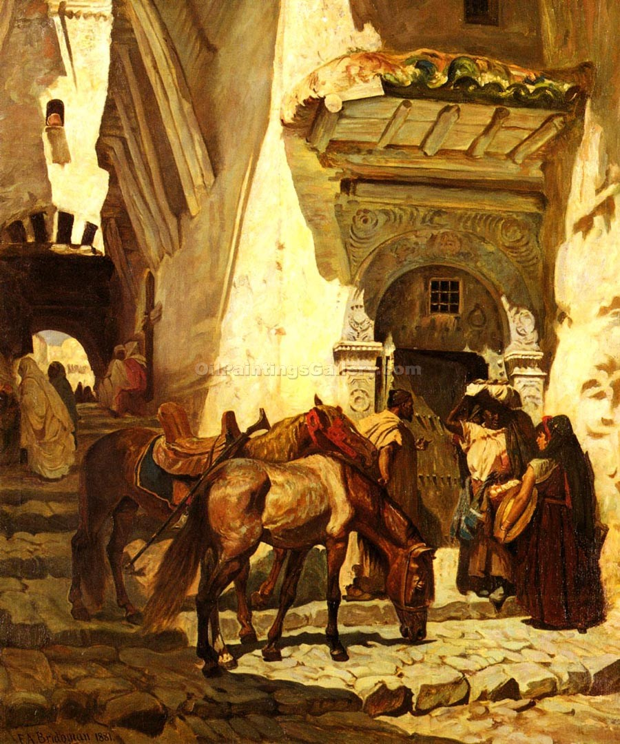 """Near the Kasbah"" by  Frederick Arthur Bridgman"