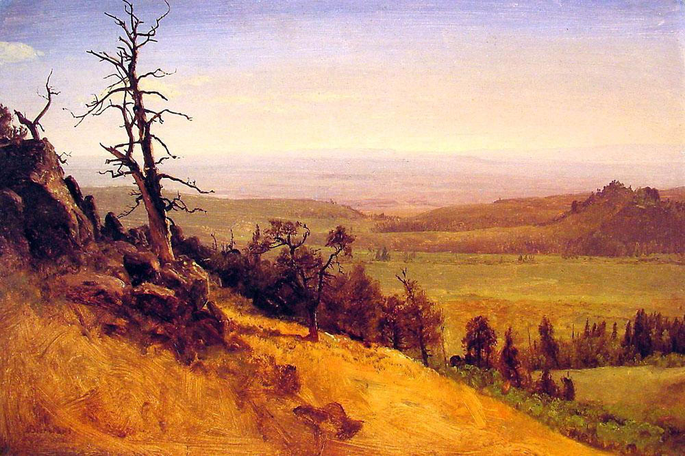 """Nebraska Wasatch Mountains"" by  Albert Bierstadt"