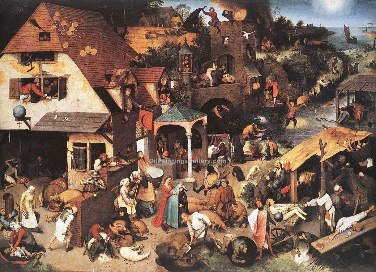 """Netherlandish Proverbs"" by  Pieter the Elder Brueghel"