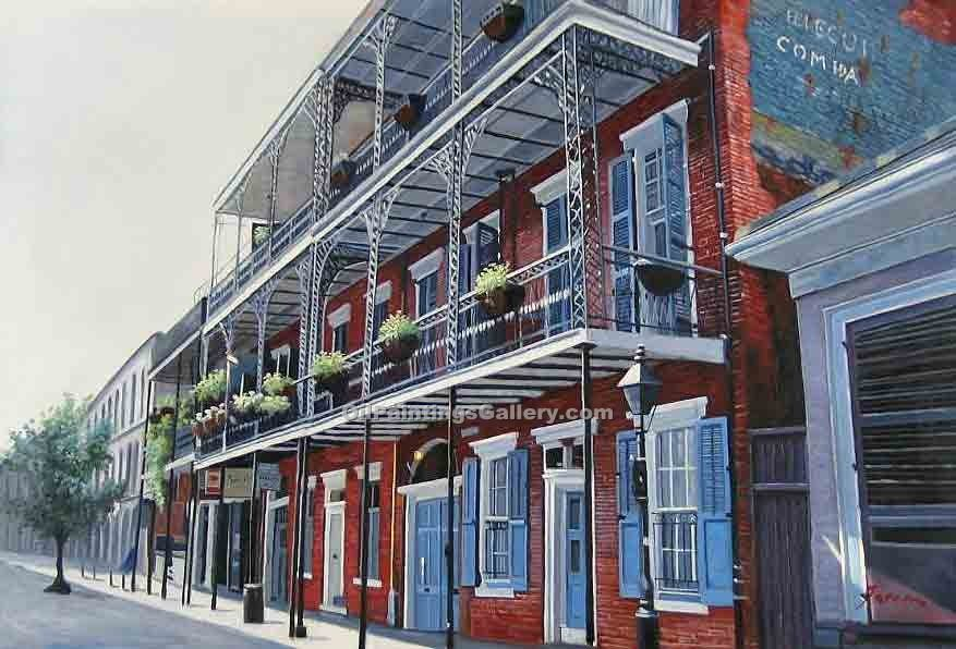 Buy City Oil Paintings Online | Realism & Naturalism styles | New Orleans The French Quarter 33