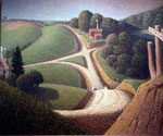 New Road by  Grant Wood (Painting ID: LA-2832-KA)
