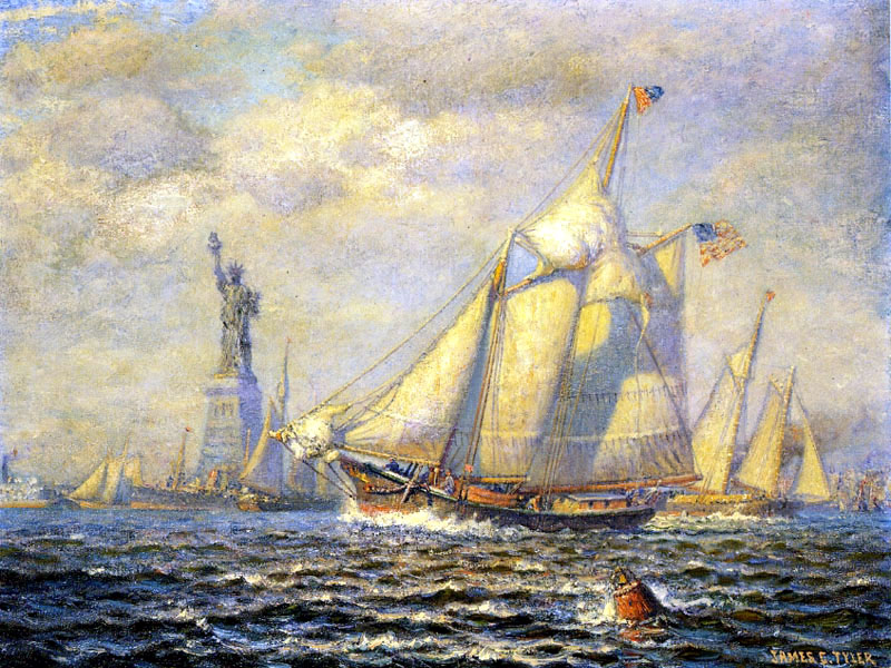 """New York Harbor"" by  James Gale Tyler"