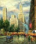 New York, Sixth Avenue Oil Painting (ID: CI-3101-B)