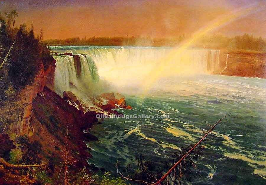 """Niagara "" by  Albert Bierstadt"