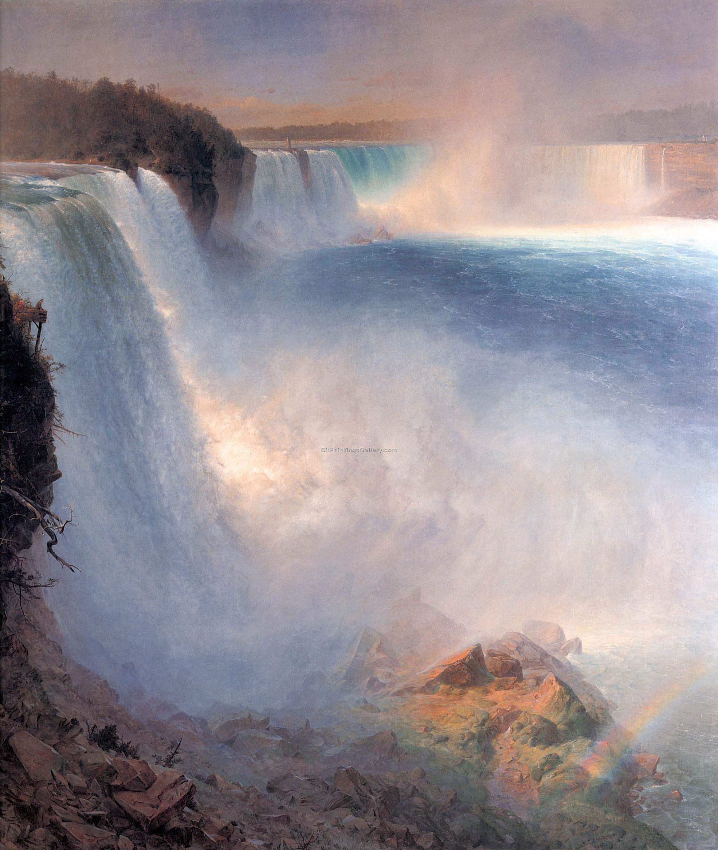 """Niagara Falls from the American Side"" by  Frederic Edwin Church"