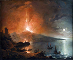 Night Eruption of Vesuvius by  Henry Pether (Painting ID: LA-3534-KA)
