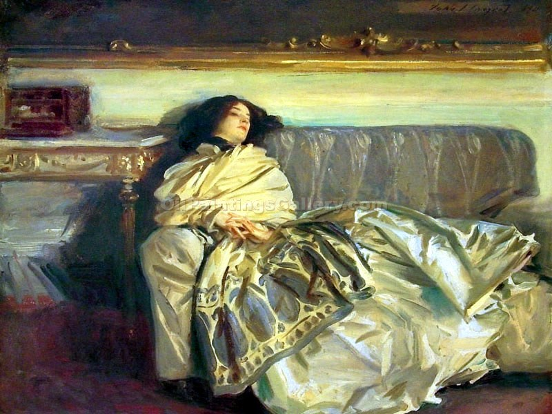 Nonchalance by John Singer Sargent | Modern Art Online Gallery - Oil Paintings Gallery