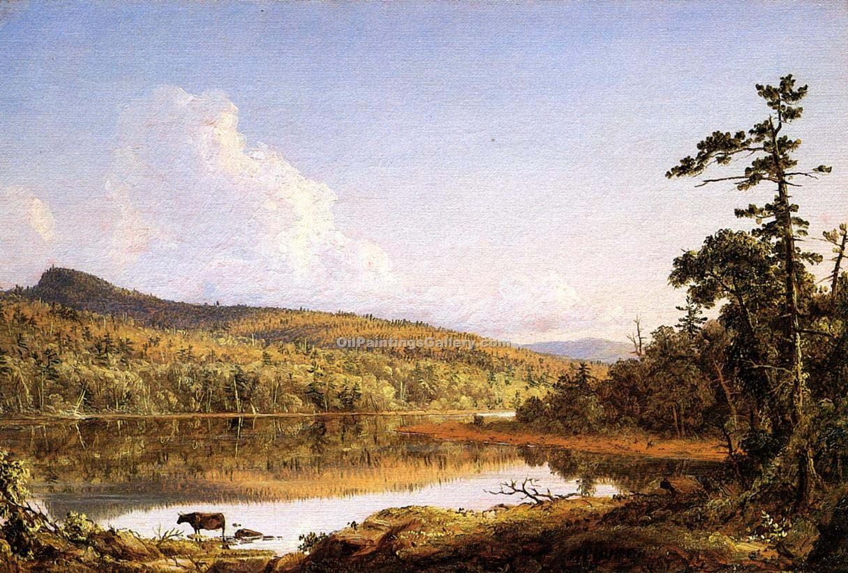 North Lake by Frederic Edwin Church | World Paintings Gallery - Oil Paintings Gallery