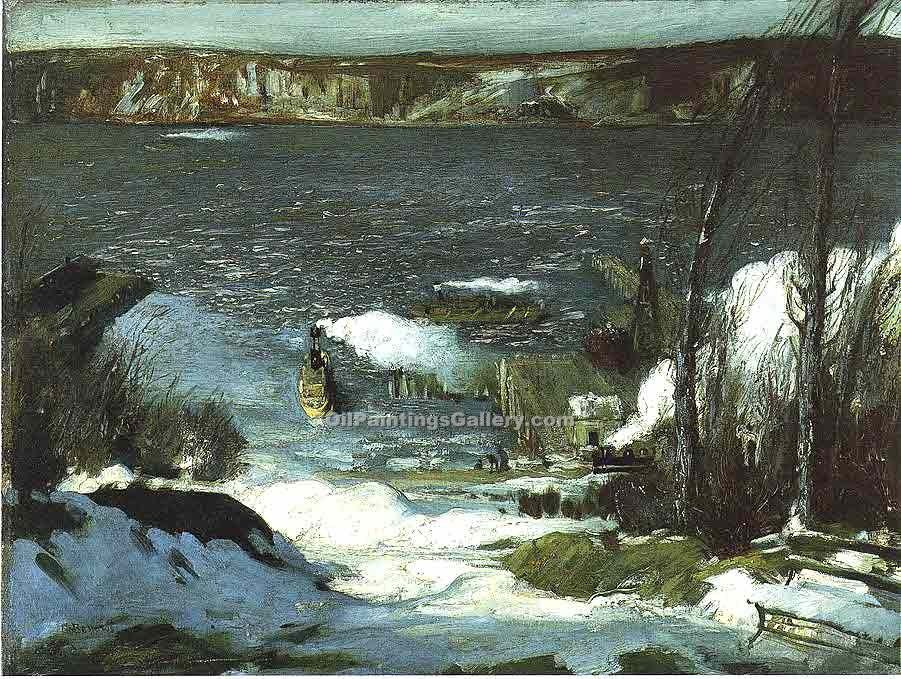 """North River"" by  George Bellows"