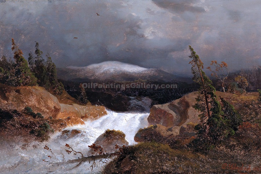 """Norwegian Mountains"" by  Andreas Achenbach"
