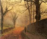 November Afternoon, Stapleton Park by  John Atkinson Grimshaw (Painting ID: LA-0262-KA)