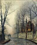 November Moonlight by  John Atkinson Grimshaw (Painting ID: LA-0252-KA)