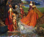 Now is Pilgrim Fair Autumn by  John Byam Liston Shaw (Painting ID: ED-0716-KA)