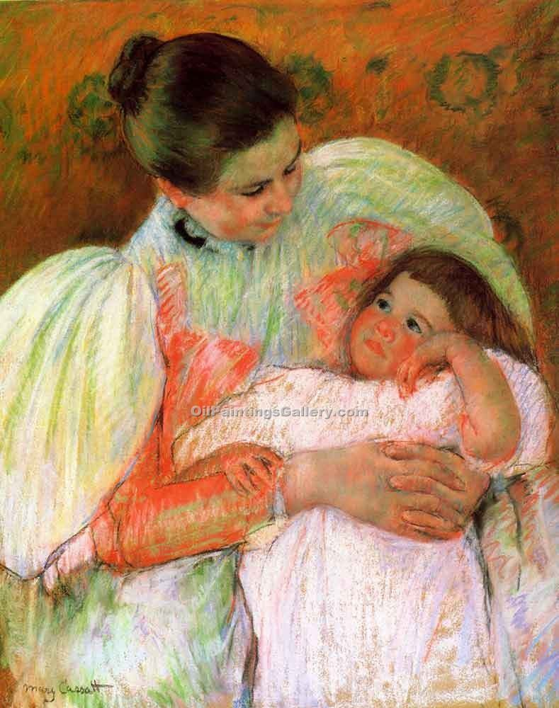 """Nurse and Child"" by  Mary Cassatt"