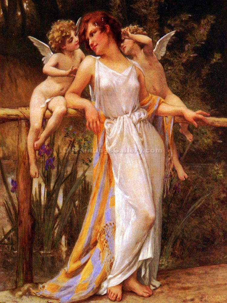 """Nymph with Cupids"" by  Guillaume Seignac"
