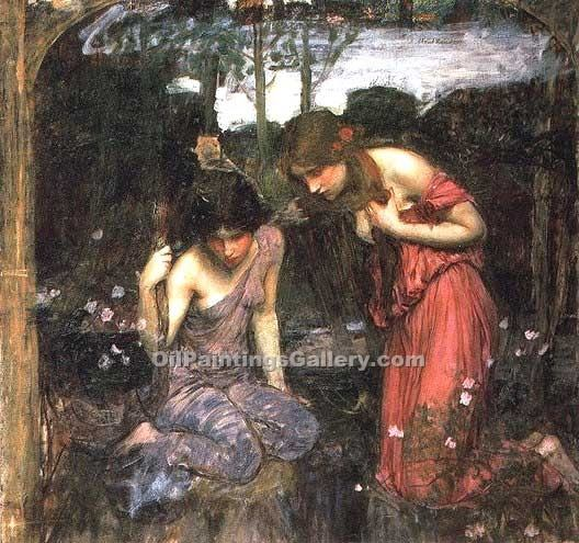 """Nymphs Finding the Head of Orpheus Study"" by  John William Waterhouse"