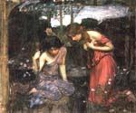 Nymphs Finding the Head of Orpheus Study by  John William Waterhouse (Painting ID: CL-4192-KA)