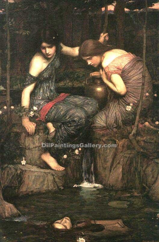 """Nymphs Finding the Head of Orpheus"" by  John William Waterhouse"