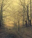 October Gold by  John Atkinson Grimshaw (Painting ID: LA-0258-KA)