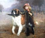 Off to School by  Charles Burton Barber (Painting ID: AN-0409-KA)