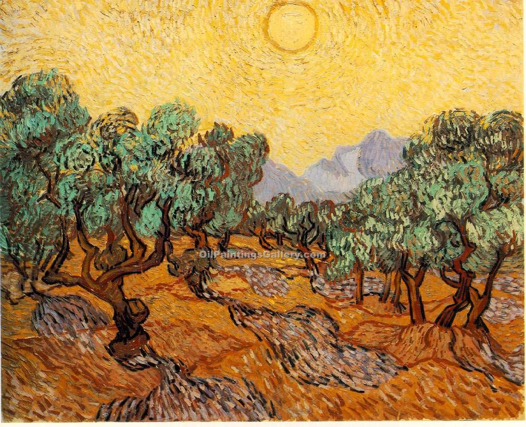 """Olive Grove"" by  Vincent Van Gogh"