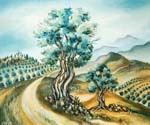Olive Trees in the Judean Hills by  Dan Livni (Painting ID: AD-0316-KA)
