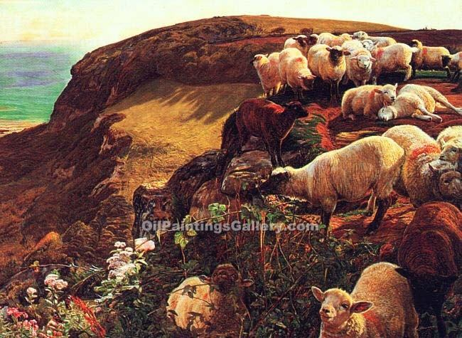 """On English Coasts"" by  William Holman Hunt"