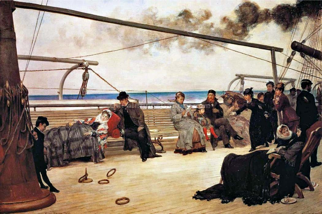"""On Shipboard"" by  Henry Bacon"