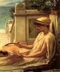 On the  Terrace by  Sir Edward John Poynter (Painting ID: CL-1110-KA)