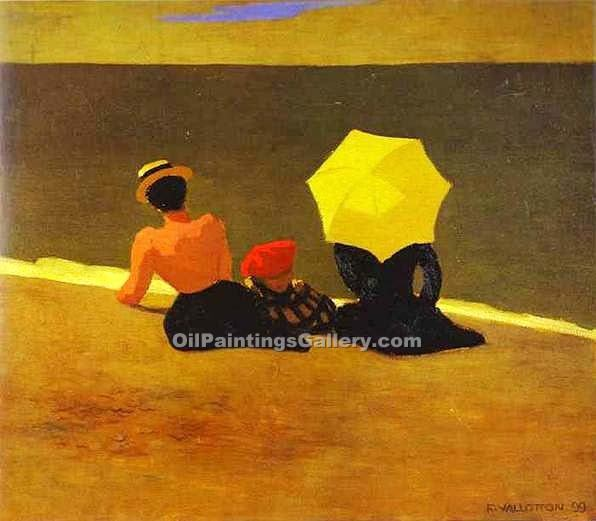 On the Beach 21 by Felix Vallotton | Famous Artists Paintings - Oil Paintings Gallery