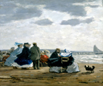 On the Beach, Dieppe by  Eugene Louis Boudin (Painting ID: ED-0590-KA)