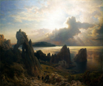 On the Coast of Capri by  Andreas Achenbach (Painting ID: LA-2239-KA)
