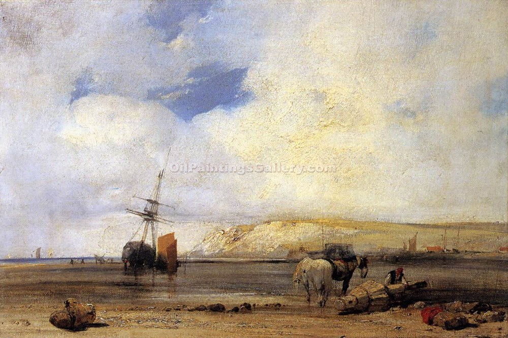 """On the Coast of Picardy"" by  Richard Parkes Bonington"