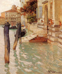 On the Grand Canal in Venice by  Fritz Thaulow (Painting ID: LA-0598-KA)