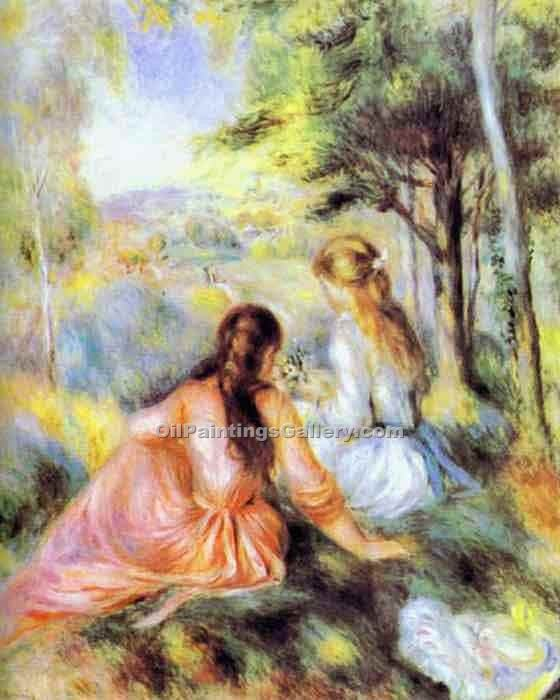 """On the Meadow"" by  Pierre Auguste Renoir"
