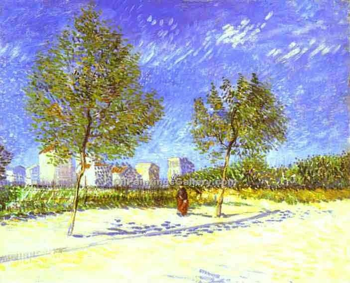 """On the Outside of Paris"" by  Vincent Van Gogh"