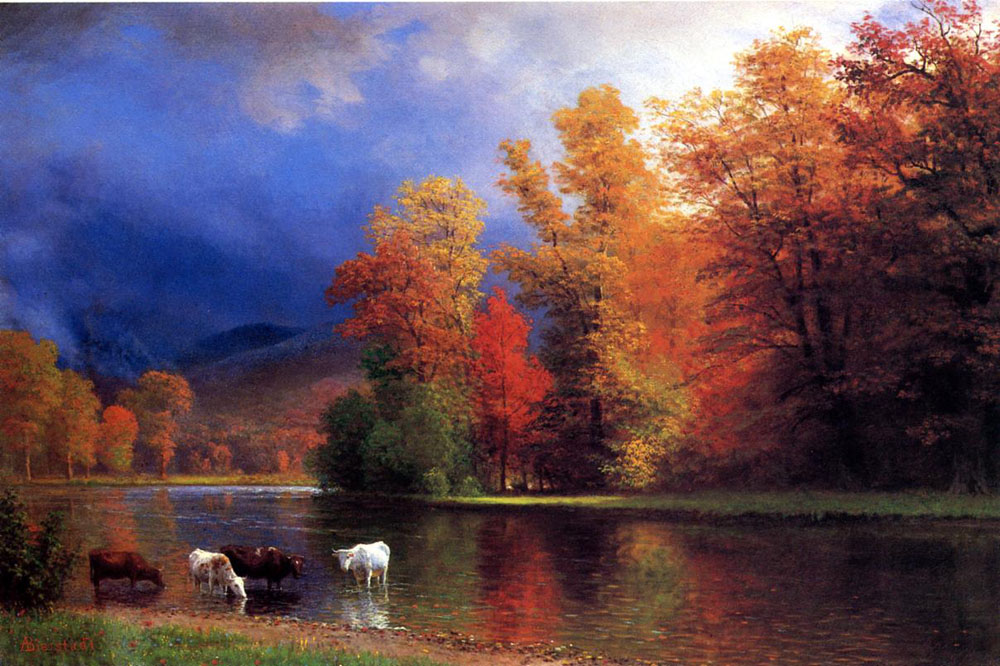 """On the Saco"" by  Albert Bierstadt"