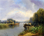 On the Thames 42 by  James Webb (Painting ID: LA-0842-KA)