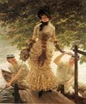 On the Thames 50 by  James Tissot (Painting ID: CL-4250-KA)