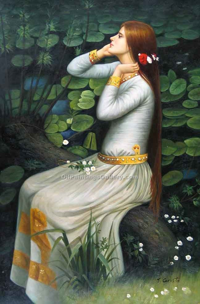 """Ophelia 01"" by  John William Waterhouse"