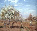 Orchard in Bloom at Louveciennes by  Camille Pissarro (Painting ID: LA-0942-KA)