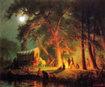 Oregon Trail by  Albert Bierstadt (Painting ID: LA-3387-KA)