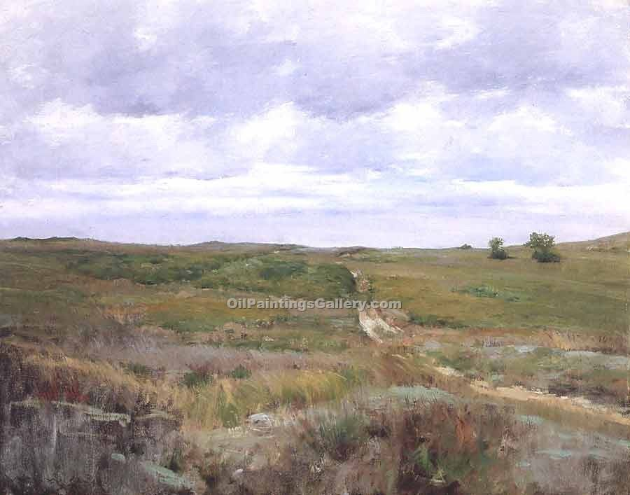 """Over the Hills and Far Away"" by  William Merritt Chase"