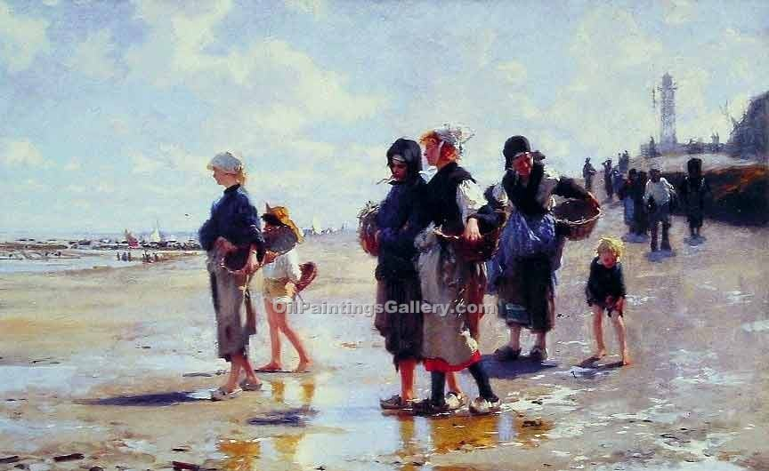 """Oyster Gatherers of Cancale"" by  John Singer Sargent"