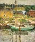 Oyster Sloop by  Frederick Childe Hassam (Painting ID: CK-6037-KA)