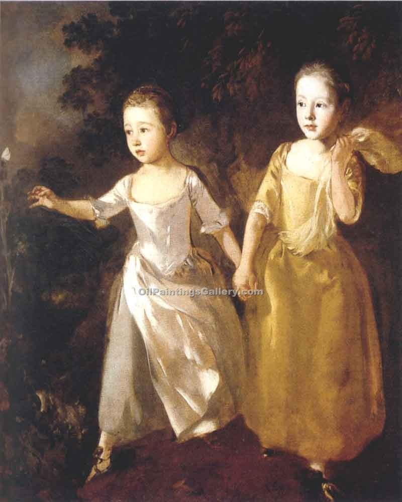 """Painters Daughters"" by  Thomas Gainsborough"