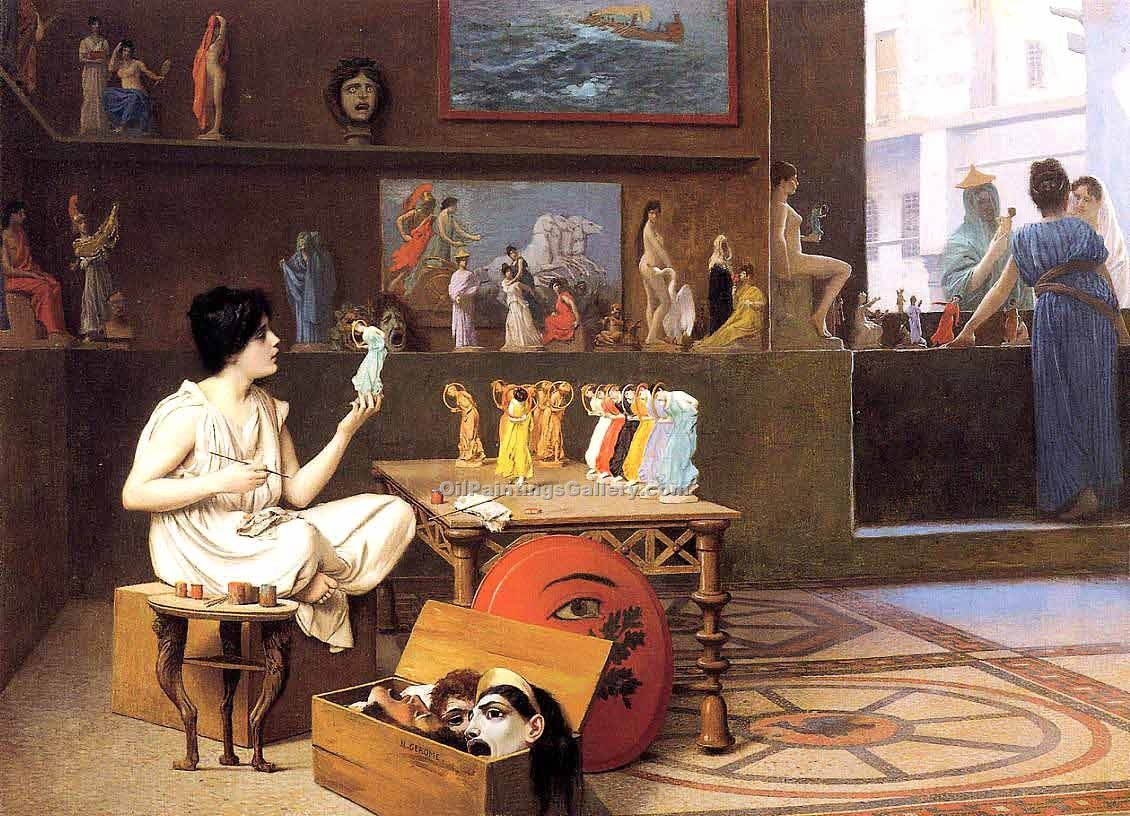 """Painting Breathes Life into Sculpture"" by  Jean Leon Gerome"