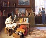 Painting Breathes Life into Sculpture by  Jean Leon Gerome (Painting ID: CI-1418-KA)
